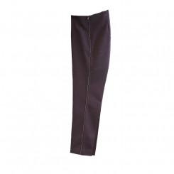 Pantalone con piping in cristalli