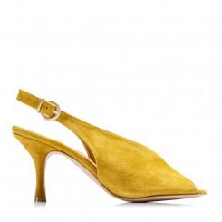 Sandalo spuntato in pelle scamosciata