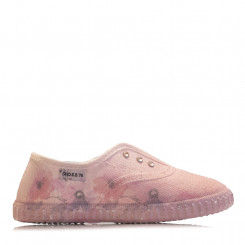 Slip-on in tela rosa con strass