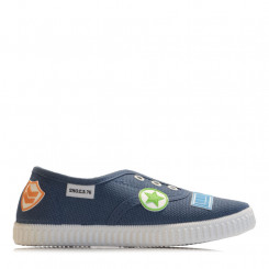 Slip-on in tela avio con patch