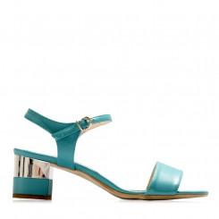 Sandalo in nappa con tacco metal