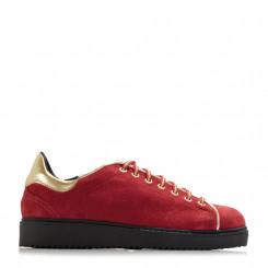 Sneaker scamosciata con profili laminati