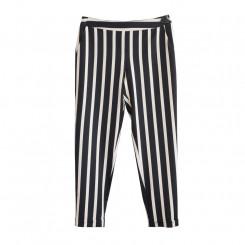 Pantalone rigato con risvolto