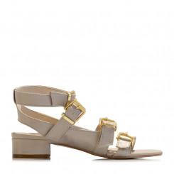 Sandalo in nappa con fibbie