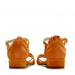 Sandalo in pelle scamosciata