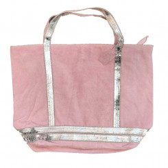 Shopper camosciata con paillettes