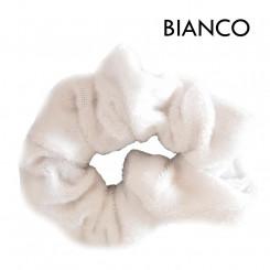 Scrunchie in velluto bianco