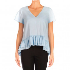 Top in cotone con ruches