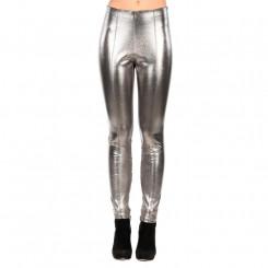 Pantalone skinny effetto metalizzato