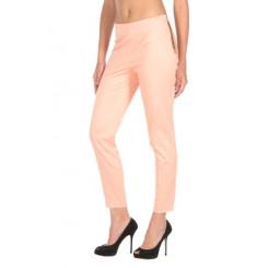 Pantalone gamba gritta in cotone elasticizzato