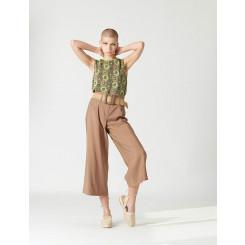 Pantalone in viscosa con cintura