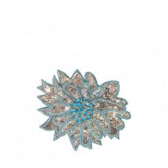 Spilla a fiore piccola azzurra