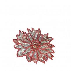 Spilla a fiore piccola rossa