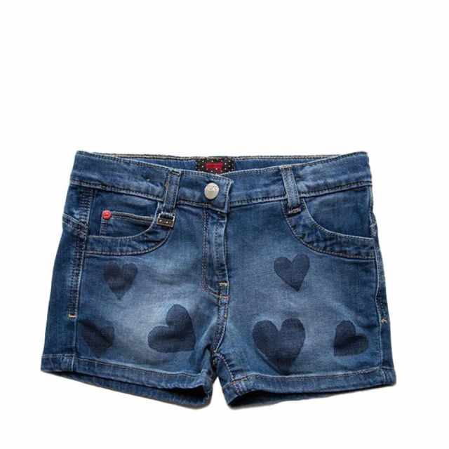 Shorts in jeans denim scuro