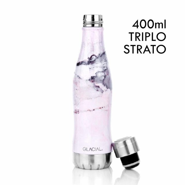 GLACIAL BOTTLE - PINK MARBLE - 400 ml